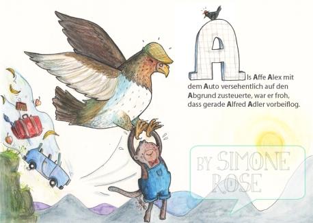 Seite 1 eines ABC Büchleins für Kinder